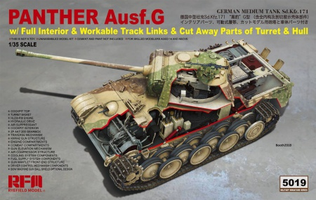 Panther Ausf.G w/ Full Interior & Workable Track Links & Cut Away Parts of Turret & Hull 099/RM-5019