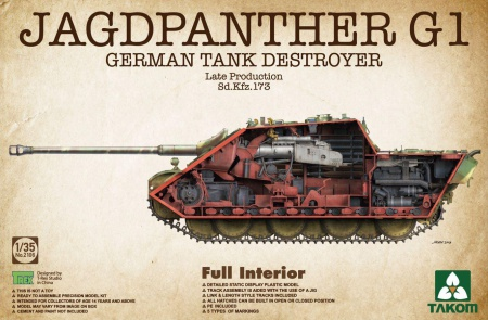 Jagdpanther G1 German Tank Destroyer Late production Sd.Kfz. 173 w/ full interior kit