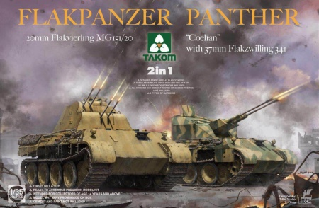 Flakpanzer Panther 20mm Flakvierling MG 151/20 Coelian 103/2105