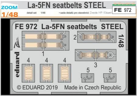 La-5FN seatbelts STEEL (1:48 Zvezda/KP/Eduard)