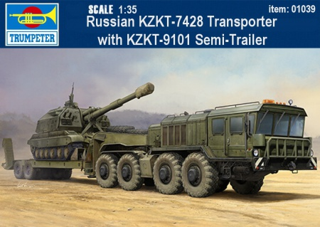 Russian KZKT-7428 Transporter with KZKT-9101 Semi-Trailer