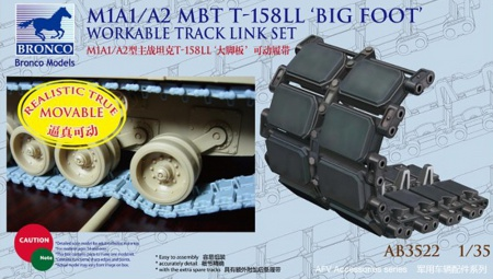 T-158LL Big Foot Track-Link Set for M1A1/A2 Abrams (Workable)