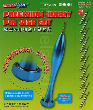 Precision Hobby Pin Vise Set (Ø: 0.3-1.2mm)
