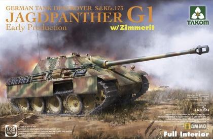 Jagdpanther G1 early German Tank Destroyer Sd.Kfz.173 w/ Zimmerit / full interior kit