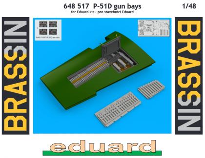 P-51D zbraňové šachty (Eduard)