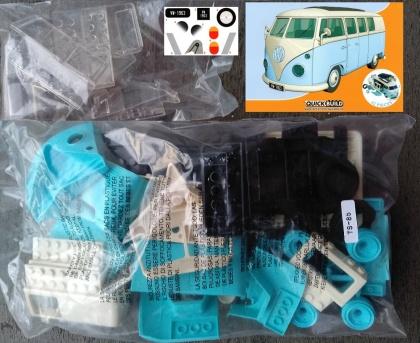 VW Camper Van blue QUICK BUILD