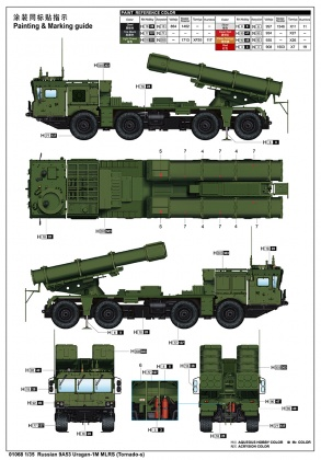 Russian 9A53 Uragan-1M MLRS (Tornado-s)