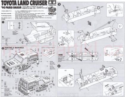 Toyota Land Cruiser '90 Paris-Dakar (Mini 4WD)