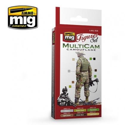 Multicam Camouflage Set Colors 6x17ml
