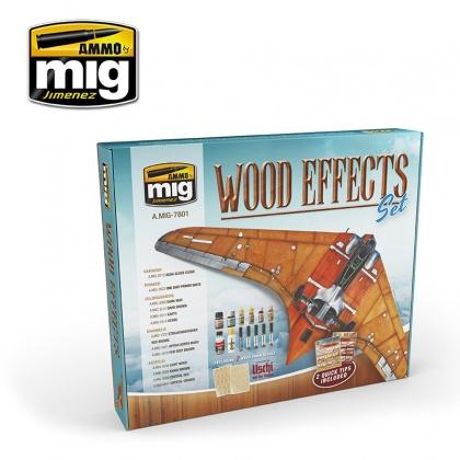 Wood Effects Set Colors 4x10ml, 4x17ml, 1x30ml, 3x35ml, 1x60ml