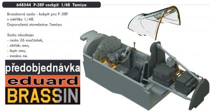 P-38F cockpit (Tamiya)
