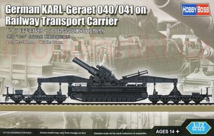 German KARL-Geraet 040/041 on Railway Transport Carrier