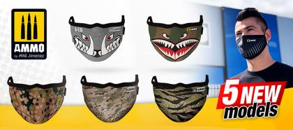 Tiger Camo AMMO Face Mask