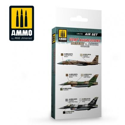 USAF Aggressors Desert & Artic Colors Set 6x17ml