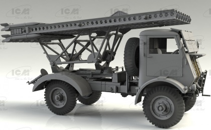BM-13-16 on W.O.T. 8 chassis with Soviet Crew
