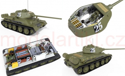 T-34/85 Czechoslovak Production Early Type (w/ full interior kit)