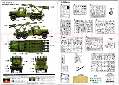 Soviet 2B7 Multiple Rocket Launcher BM-13 NM