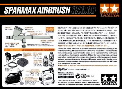 SPARMAX AIRBRUSH SX0.3D (0,3mm)