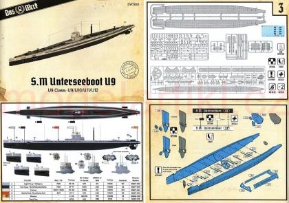 WWI German Submarine SM U9