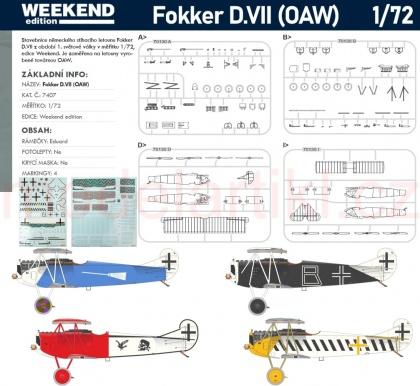 Fokker D.VII OAW (Weekend)