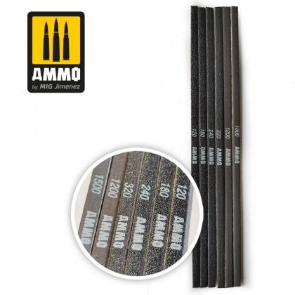 Contour Sanding Stick - with different grits: 120/180/240/320/1200/1500 (6pcs.)