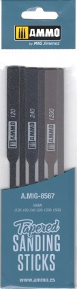 Tapered Sanding Stick - of varying grits: 120/180/240/320/1200/1500 (6pcs.)