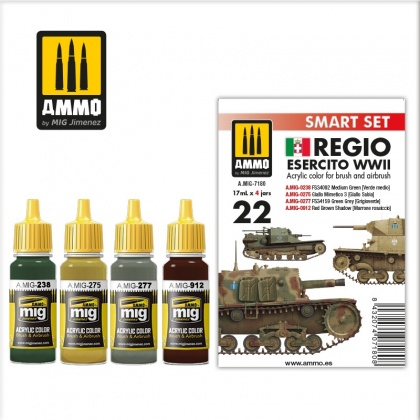 Regio Esercito Color Set 4x17ml