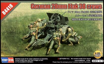 German 20mm Flak 38 Figure Set (4 Crew)