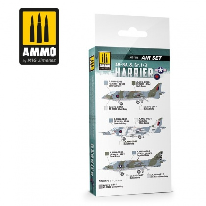 AV-8A US Marines - Gr.1/3 Harrier UK RAF Colors Set 6x17ml