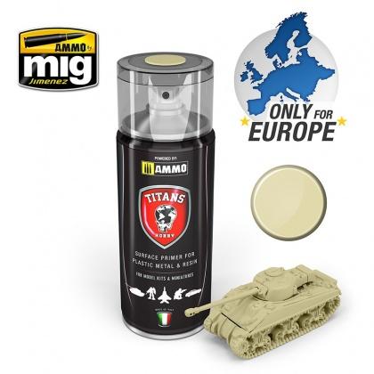 Bone White Titans Hobby Matt Primer Spray for Plastic, Metal & Resin 400ml