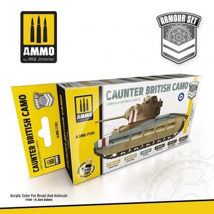 Caunter British Camo Colors 6x17ml