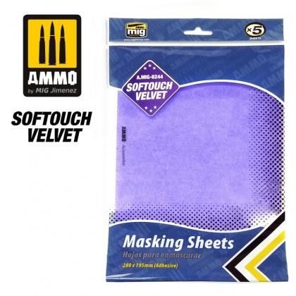 Softouch VELVET Masking Sheets (280x195mm, 5pcs)