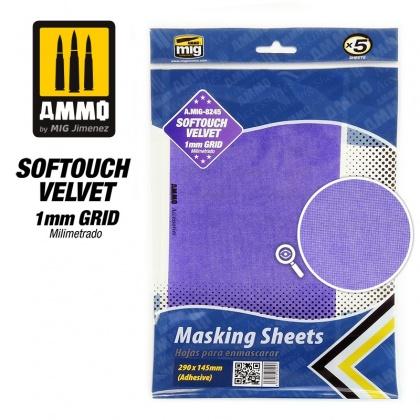 Softouch VELVET Masking Sheets 1mm (290x145mm, 5pcs)