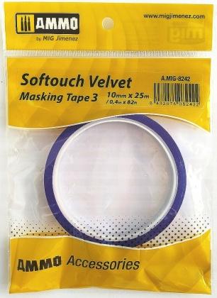 Softouch VELVET Masking Tape 3 (10mm x 25m)