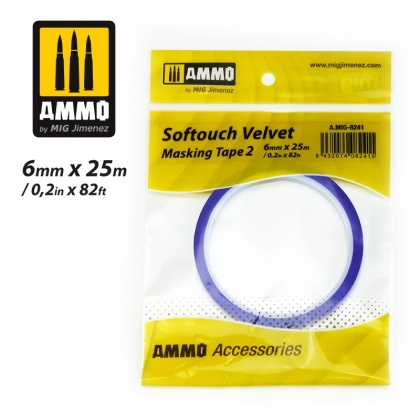 Softouch VELVET Masking Tape 2 (6mm x 25m)