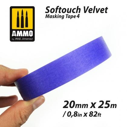 Softouch VELVET Masking Tape 4 (20mm x 25m)