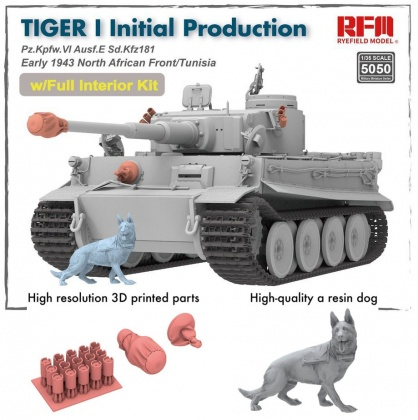 Tiger I Initial Production, Pz.Kpfw.VI Ausf.E Sd.Kfz181 Early 1943 North African Fronnt/Tunisia (w/Full Interior)
