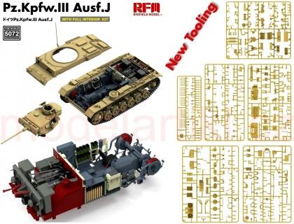 Pz.Kpfw.III Ausf.J (w/Full Interior & Workable Track)