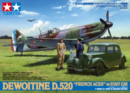 Dewoitine D.520 French Aces with Staff Car (Citroën 11CV) 001/61109