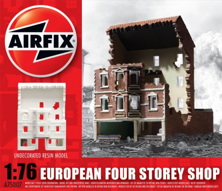 European Four Storey Shop Ruin 006/75007