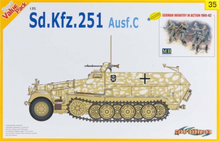 Sd.kfz. 251 Ausf.C + German Infantry In Action 1941-42 023/9135