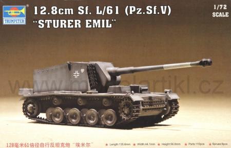 12.8cm Sf.L/61 (Pz.Sf.V) Sturer Emil
