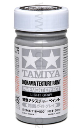Diorama Texture Paint Pavement Effect, Light Gray 100ml 001/87116