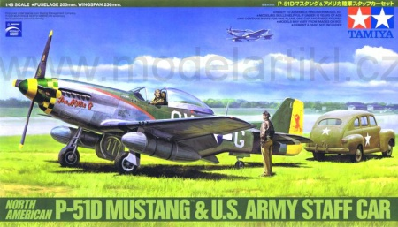 P-51D Mustang & U.S. Army Staff Car Ford Sedan