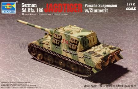 Sd.Kfz 186 Jagdtiger (Porsche suspension) w/Zimmerit