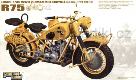 WWII German Motorcycles BMW R75 (2 Cars) 063/L3509