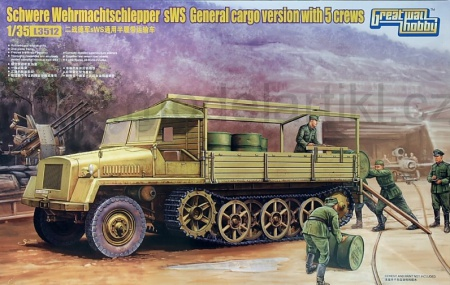 Schwere Wehrmachtschlepper sWS General cargo version with 5 crews 063/L3512