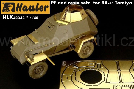 PE and resin setz  for BA-64 Tamiya 039/HLX48343
