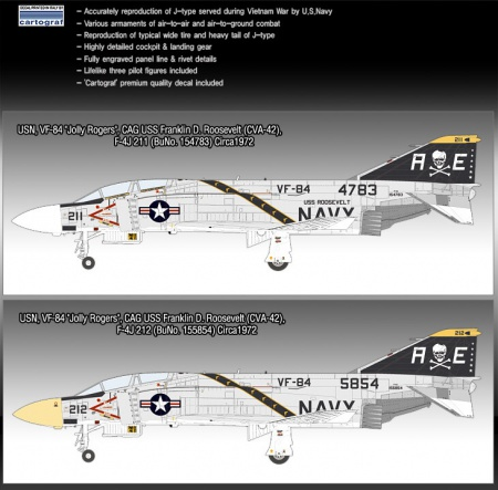 McDonnell F-4J Phantom II VF-84 Jolly Rogers