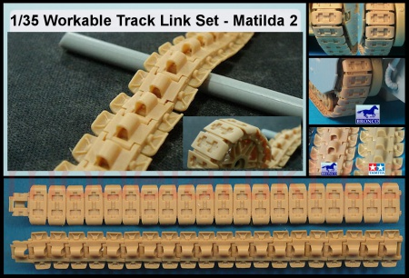 Matilda 2 Infantry Tank Flat Type Workable Track Link Set